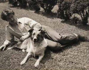 Eric with Tootsie, his collie.